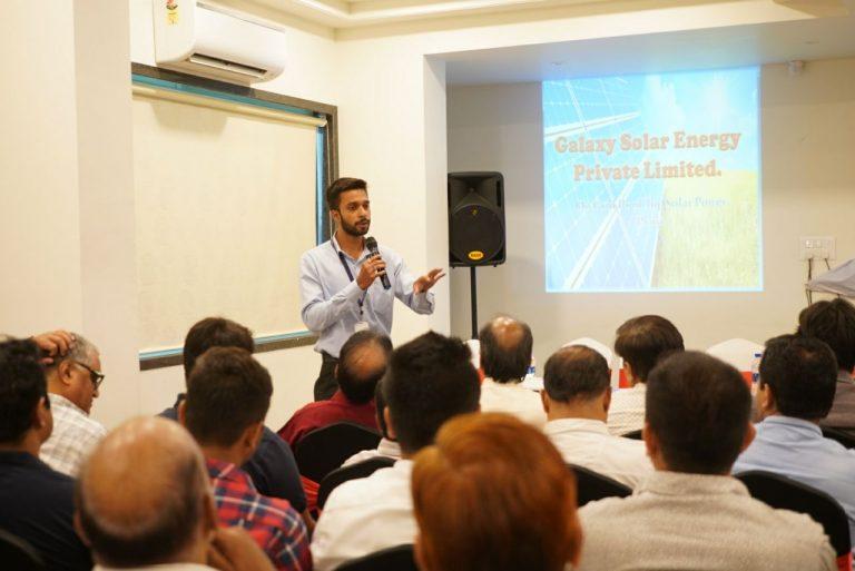 Company Presentation in Hotel Brij Inn | Galaxy Solar Energy Pvt.Ltd